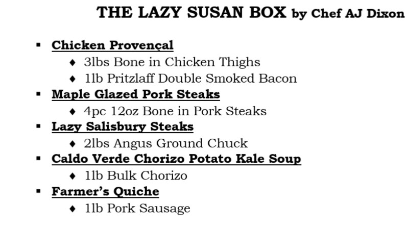 The Lazy Susan Box